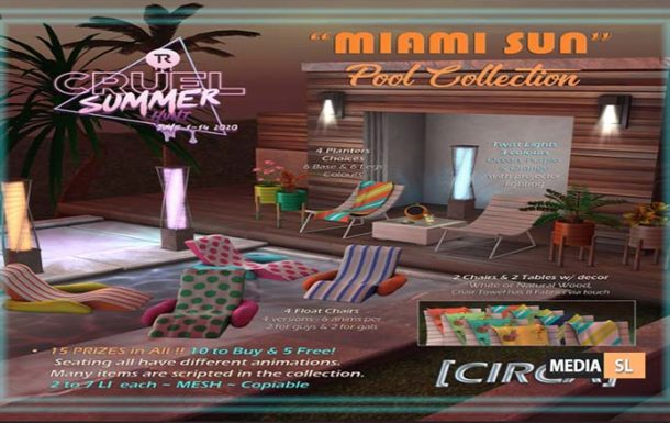 Miami Sun Pool Collection – NEW DECOR