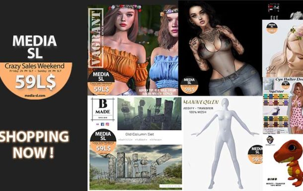 MEDIA SL CRAZY SALE WEEKEND – May 22-24TH
