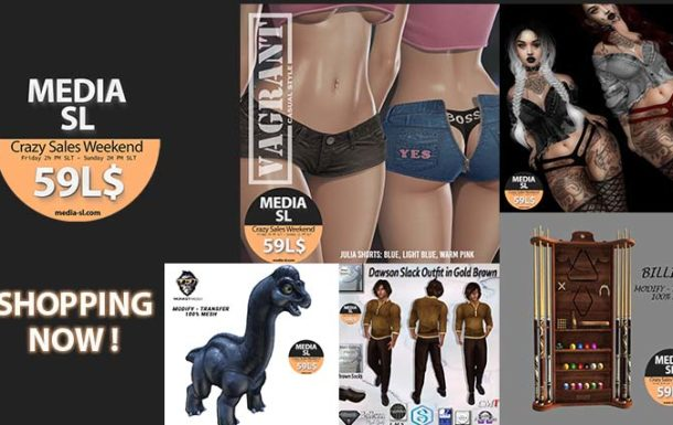 MEDIA SL CRAZY SALE WEEKEND – June 5-7TH