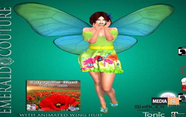 EC Annabella Butterfly Outfit Caterpillar Hunt – NEW