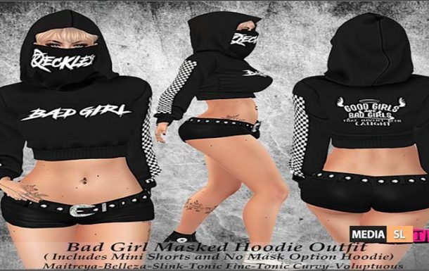 Tastic- Bad Girl Masked Hoodie Outfit! – NEW