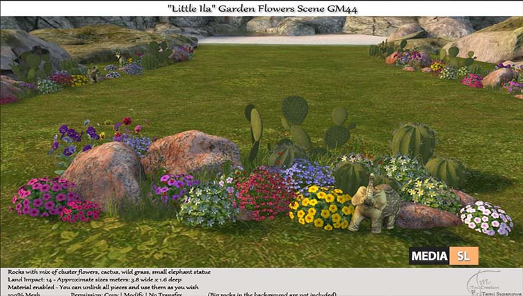 "Little Ila"" Garden Flowers Scene – NEW DECOR"