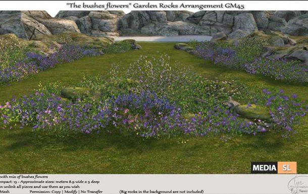 "The bushes flowers"" Garden Rocks Arrangement – NEW DECOR"