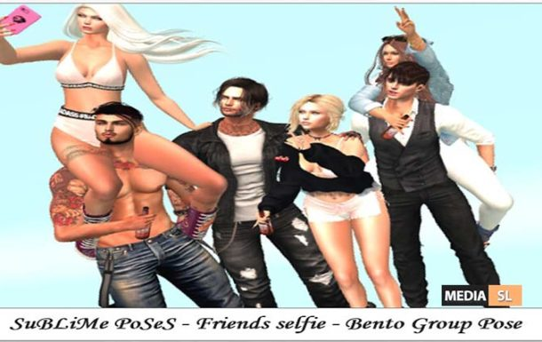 SuBLiMe PoSeS – Friends selfie – Bento Group Pose – NEW