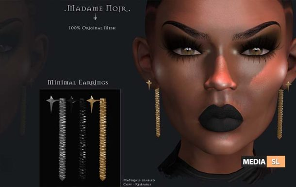 Minimal Earrings by Madame Noir – NEW