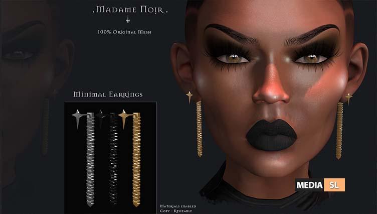 Minimal Earrings by Madame Noir – NEW