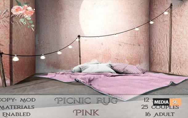 Bloom! – Picnic Rug PinkAD  – NEW DECOR