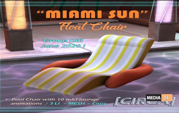 "Miami Sun"" Float Chair – Gift"