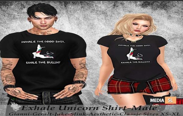 Tastic Exhale Unicorn Shirt!!   – NEW