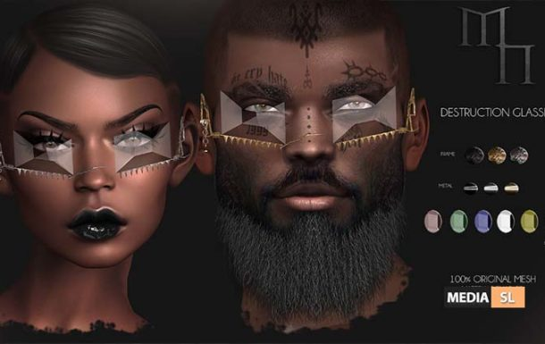 Destruction Glasses by Madame Noir  – NEW