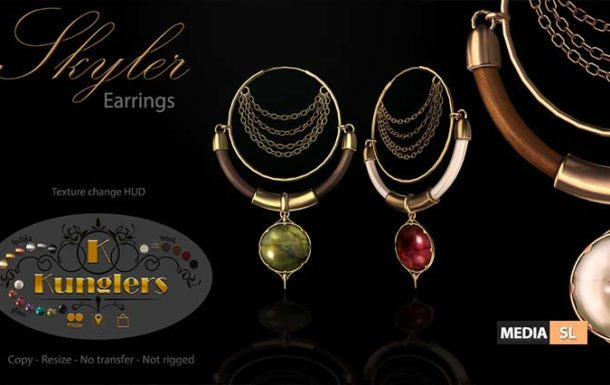 KUNGLERS – Skyler earrings  – NEW