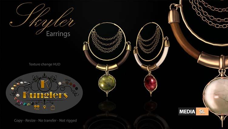 KUNGLERS – Skyler earrings  – NEW