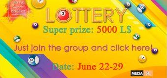 LOTTERY #ENERGY JUNE 22-29 – Sale