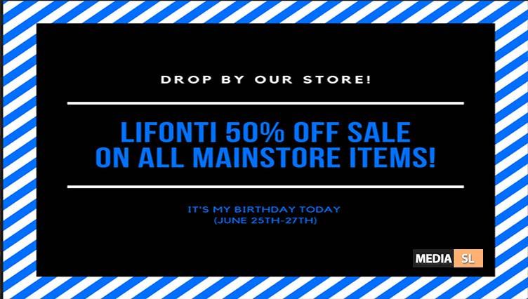 LIFONTI. – 50% OFF SALE @ Mainstore – SALE