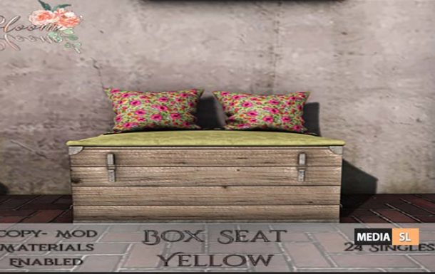 Bloom! – Box Seat YellowAD  – NEW DECOR