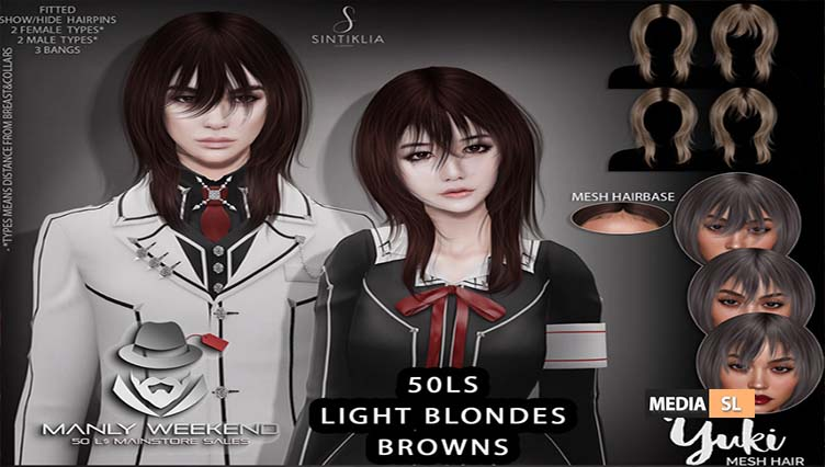 Yuki 50Ls hair for Manly weekend – SALE