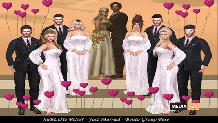 SuBLiMe PoSeS – Just Married – Bento Group Pose – NEW