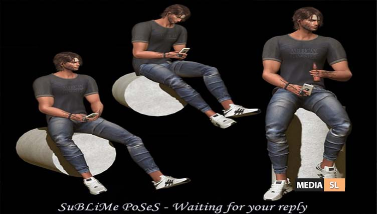 SuBLiMe PoSeS – Waiting for your reply – NEW MEN