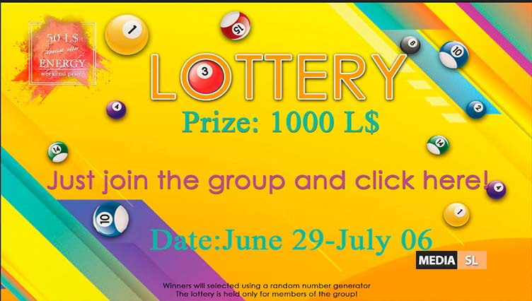 LOTTERY #ENERGY June 29-July 06  – SALE
