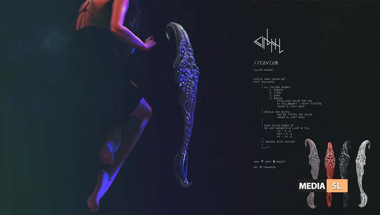 cinphul caviar alien decor set – NEW