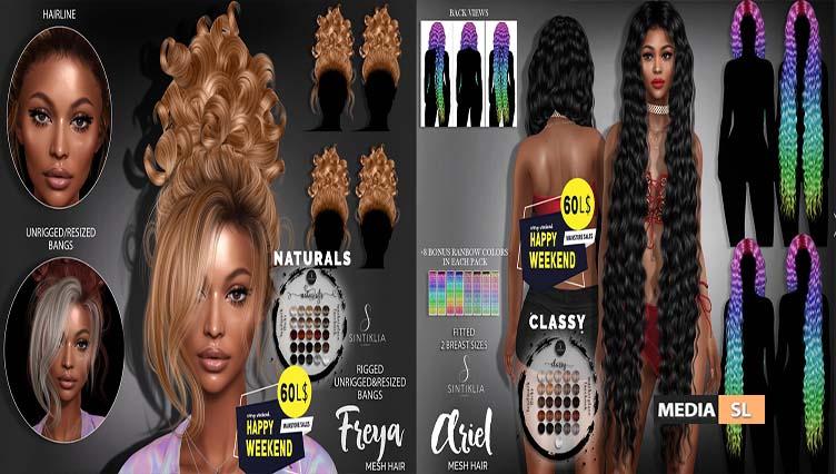 Hairs Freya & Ariel for Happy weekend – Sale