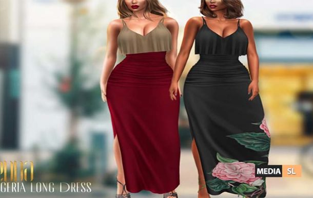 Egeria Long Dress  – NEW