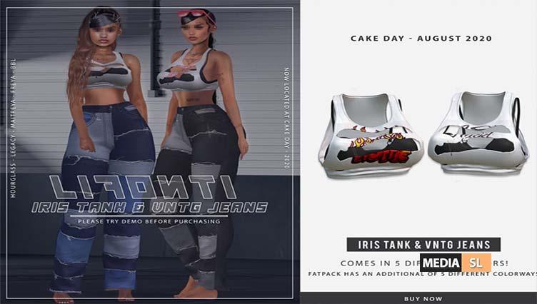 LIFONTI. – Iris Cropped Tank & Vintage Jeans – NEW