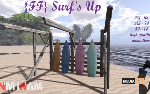 {FF} 12 – Surf's Up – NEW DECOR