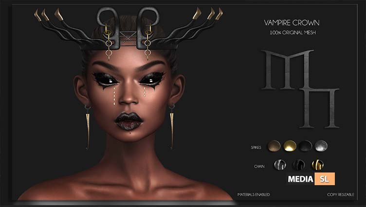 mpire Crown by Madame Noir – NEW