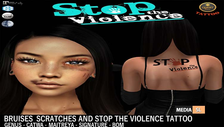 Stop The Violence – QUERT Tattoo– GIFT