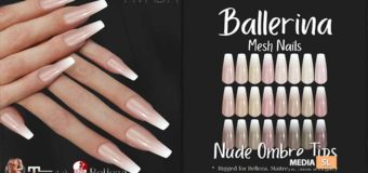 Ballerina Nails Nude Ombre Tips – NEW