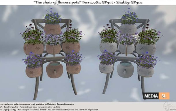 The chair of flowers pots – NEW DECOR