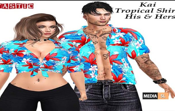 Tastic Kai His / Hers Tropical Shirts  – NEW