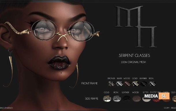 Serpent Glasses by Madame Noir – NEW