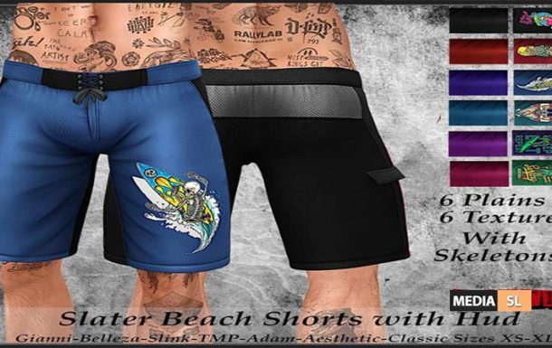 Tastic- New Slater Beach Shorts with Hud! – NEW