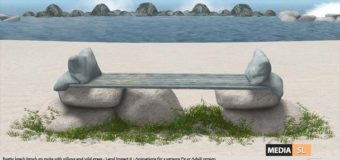 "Hugs on the rocks"" Beach bench – NEW DECOR"