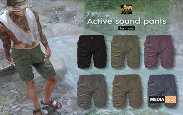 ACTIVE SOUND PANTS – NEW MEN