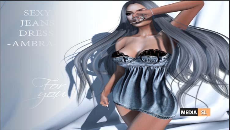 SEXY JEANS DRESS -AMBRA – NEW