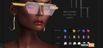 Rich Glasses by Madame Noir @Ebento – NEW