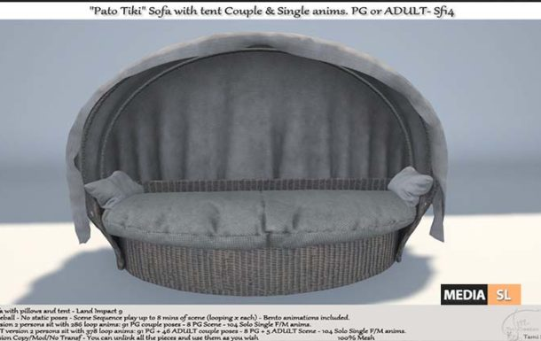 """Pato Tiki"" Sofa with tent Sf14 – NEW DECOR"