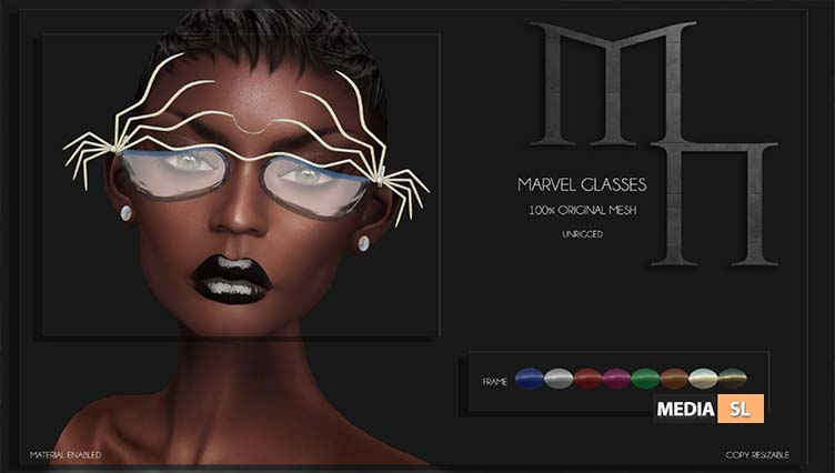 Marvel Glasses by Madame Noir – NEW