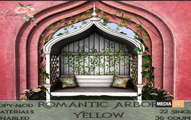 Bloom! – Romantic Arbor YellowAD  – NEW DECOR
