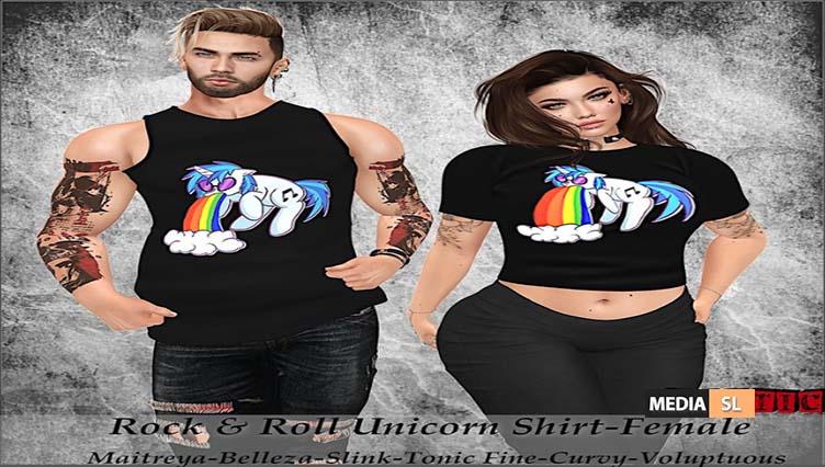 Tastic-Rock & Roll Unicorn Tops!! – NEW
