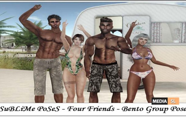 SuBLiMe PoSeS – Four Friends – Bento Group Pose – NEW