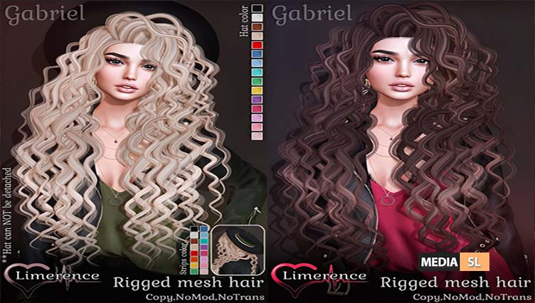 {Limerence} Gabriel hair with or without hat – NEW
