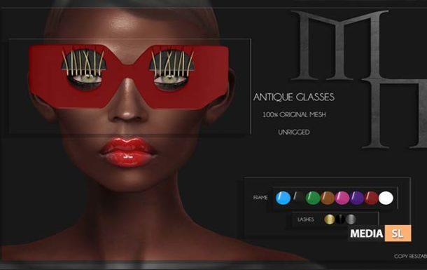 Antique Glasses by Madame Noir @ Outre – NEW