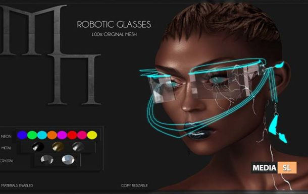 Robotic Glasses by Madame Noir @Mainframe – NEW