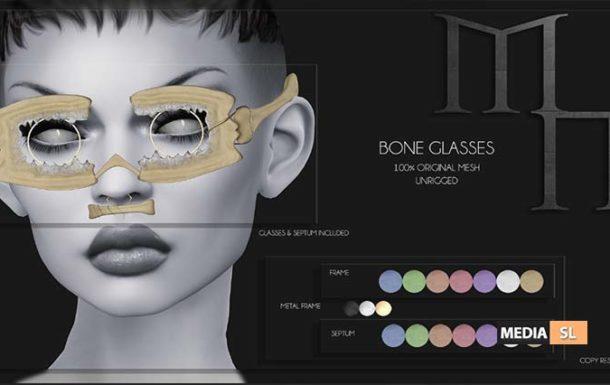 Bone Glasses by Madame Noir  – NEW
