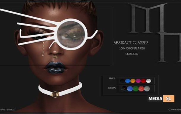 Abstract Glasses by Madame Noir  – NEW