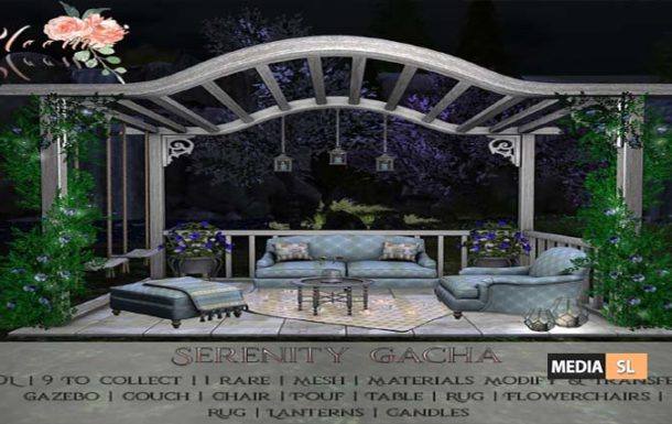 Bloom! – Serenity Gacha set – NEW DECOR